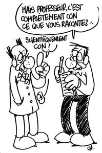 caricature de science